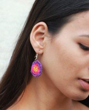 Handmade Purple Coiled Earrings