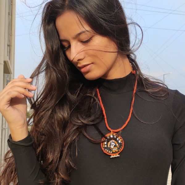 Embroidered Banjara Necklace By Qurcha