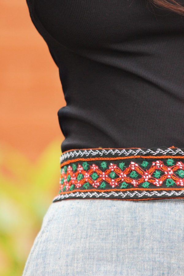 Embroidered Tribal Belt By Qurcha