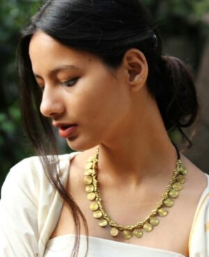Dhokra Spiral Necklace By Qurcha