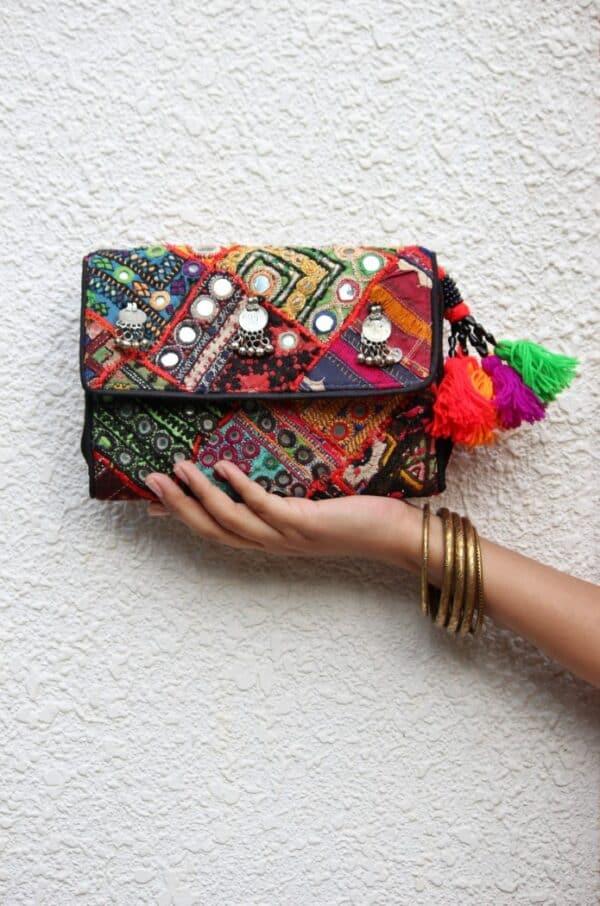 Boho Embroidered Vintage Bag