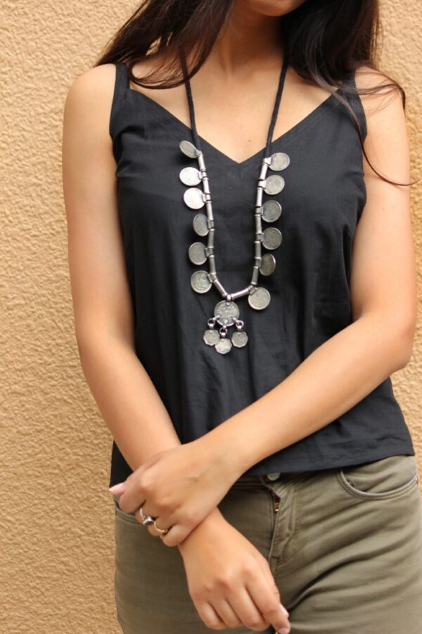 Tribal Boho Metal Necklace By Qurcha