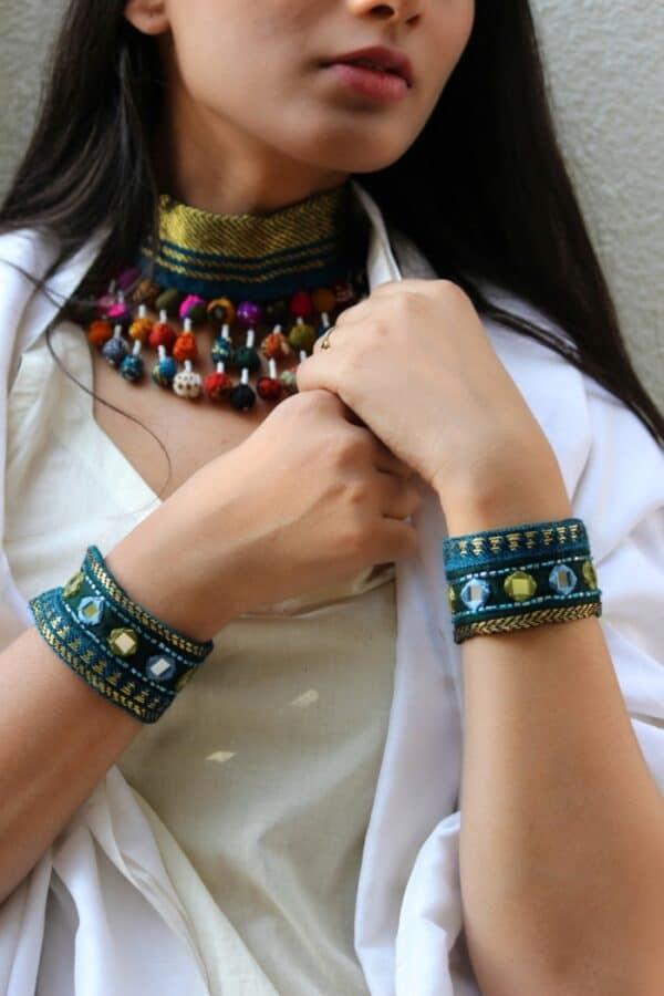 Fabric Bracelet By Qurcha